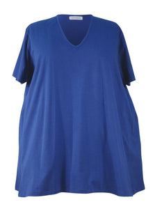 Medium Width Shoulder A-line Big Tee - Cotton Lycra Jersey