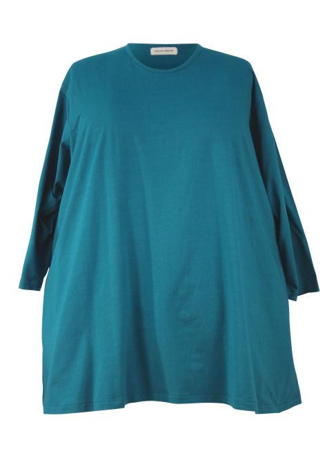 Wide (or Dropped) Shoulder A-line Big Tee - Cotton Lycra Jersey