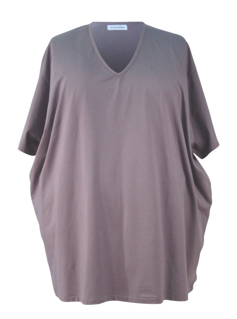 Wide (or Dropped Shoulder) Big Boyfriend Tee - Cotton Lycra Jersey