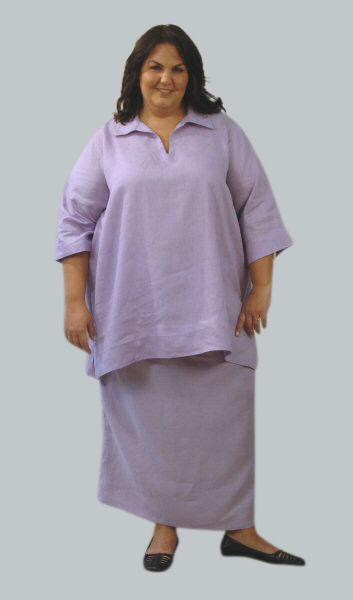 Wing Collar Kurta Tunic