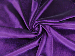 P14.1 - Solid Stretch Velvet - amethyst ****