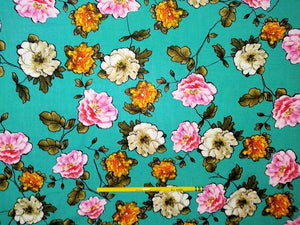 R2.1 - Rayon Challis - autumn rose *