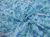 C19.7 - Cotton Voile - hand-printed - blue clover ***