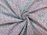 C25.3 - Hand Printed Cotton Cambric - dewdrop ***
