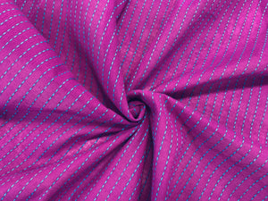 C23.3 - Woven Cotton - magenta with embroidered stripe **