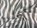 C23.1 - Embroidered Stripe Slub Cotton - black and cream  ***