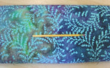 C13.3 - Cotton - aqua fern batik *