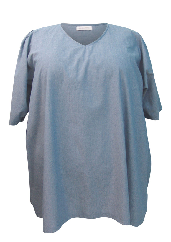 Kora Tunic Top with Shirred Sleeves