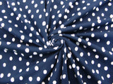 C15.1 - Cotton Knit - navy with white dots *