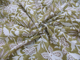 C19.5 - Cotton Voile - hand-printed - olive vine *****