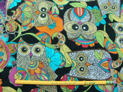 C12.3 - Cotton Broadcloth - owl print ***