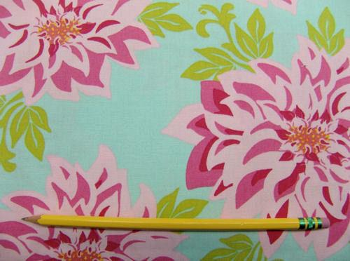 C12.1 - Cotton Sheeting - pink peonies print *