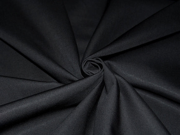 C20 - Superluxe Cotton Poplin Shirting - black ***