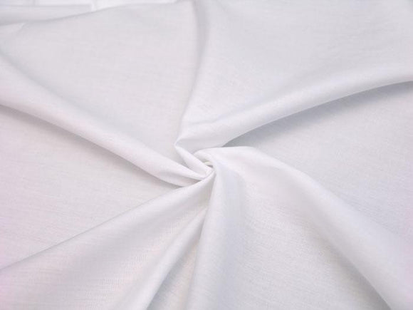 C20 - Superluxe Cotton Poplin Shirting - white ***