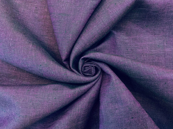 L4 - Linen - cross dye, hanky weight - purple/black *****
