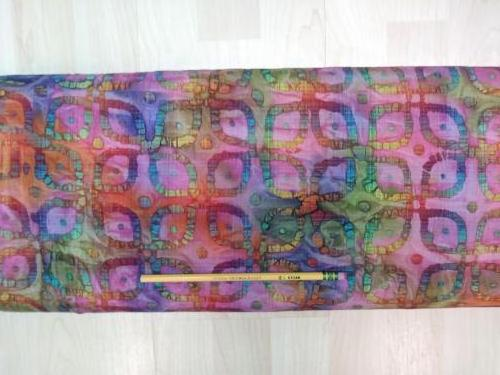 C14.4 - Madras Cotton - rainbow spice batik *