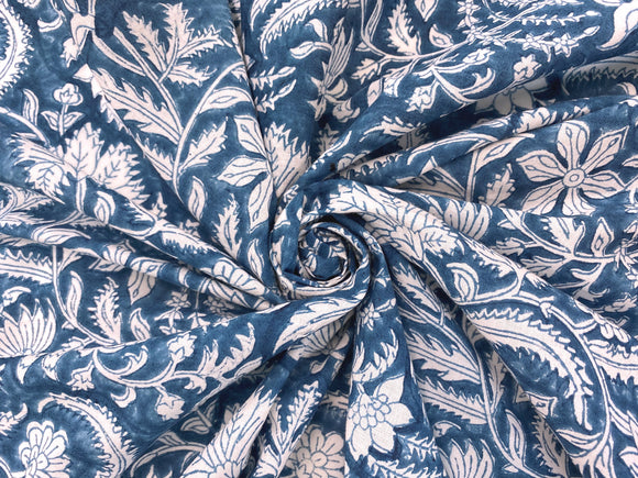 C25.5 - Hand Printed Cotton Cambric - southall floral ***
