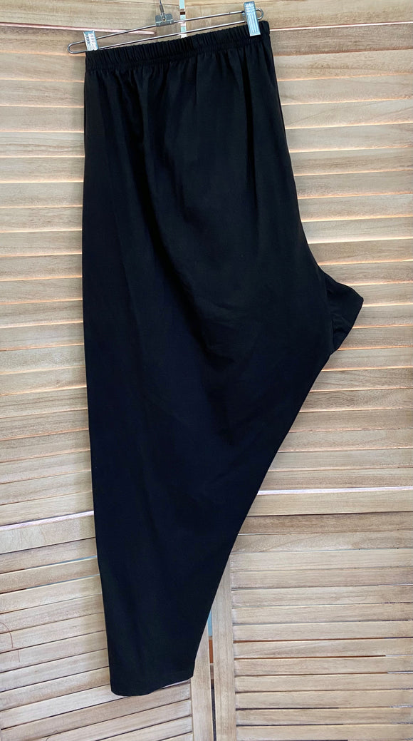 Leggings - 6x - Black Cotton Spandex Jersey*