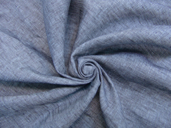 L4 - Linen - cross dye, hanky weight - blue/navy *****