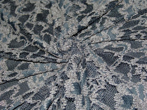 P11 - Stretch Chenille Lace - gray ***