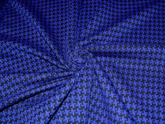 P9.1 - Sweater Knit - royal houndstooth ***