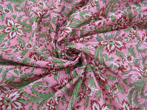 C19.4 - Cotton Voile - hand-printed - wine floral *****