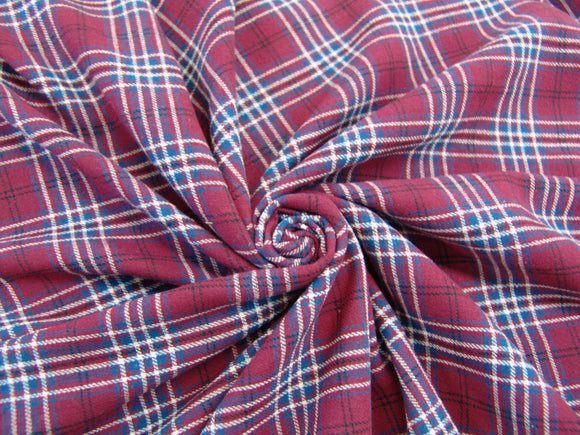 C18.4 - Flannel - wine plaid *