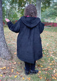 Zipper Winter Coat with deep pleat - lined