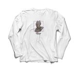 "WHITE ""DOMINATION"" LONG SLEEVE"