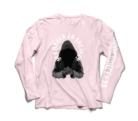 "PINK ""STRANGER TO SOCIETY"" LONG SLEEVE"