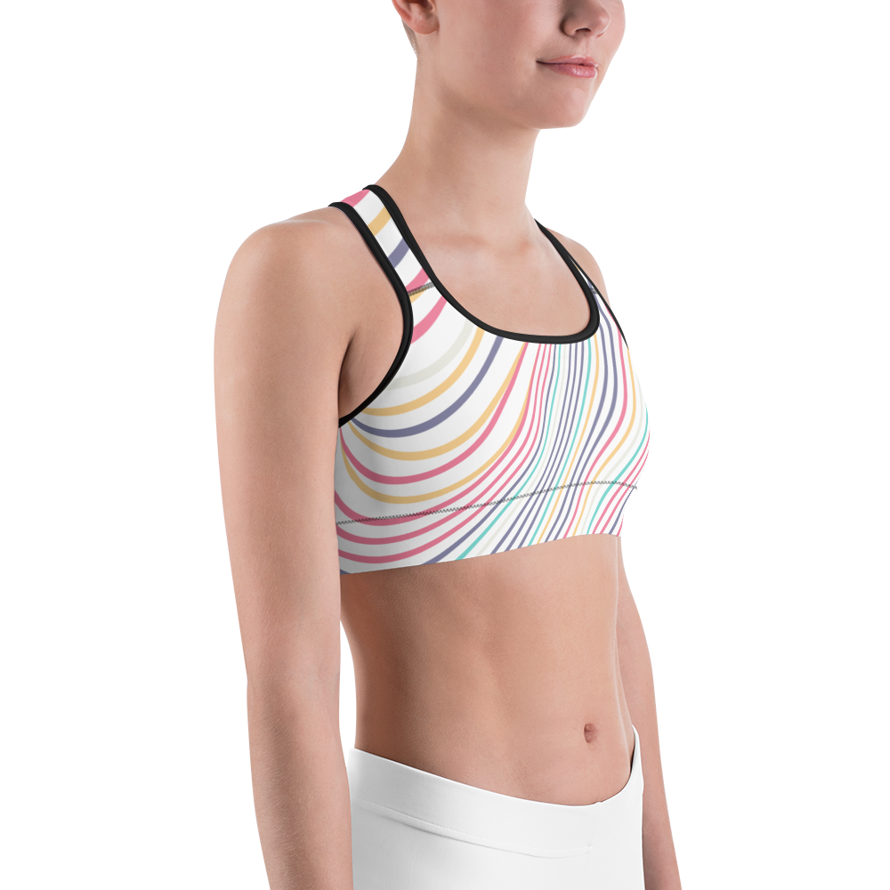 Ivy Naturals® Colorful Swirls Sports Bra