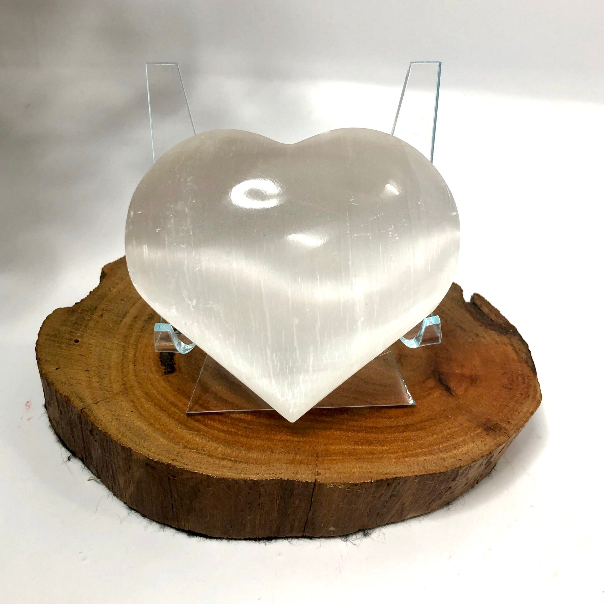 Selenite Puffy Heart from Morocco LAST ONE!