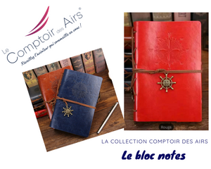 bloc notes cuir