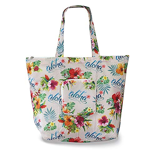 Aloha Floral Deluxe Foldable Travel Tote Bag