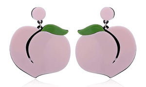 Acrylic Peach Stud Earrings