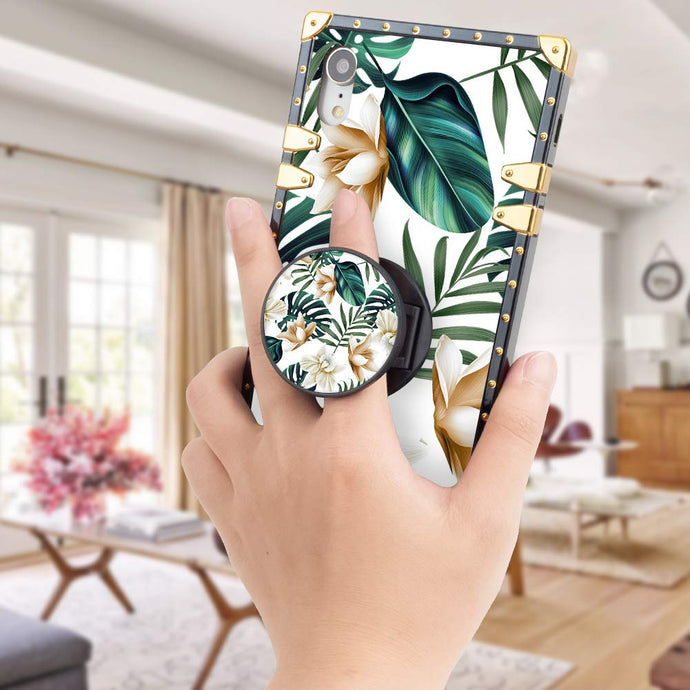 Palm Tree Leaves Flowers Design Iphone Cover Case