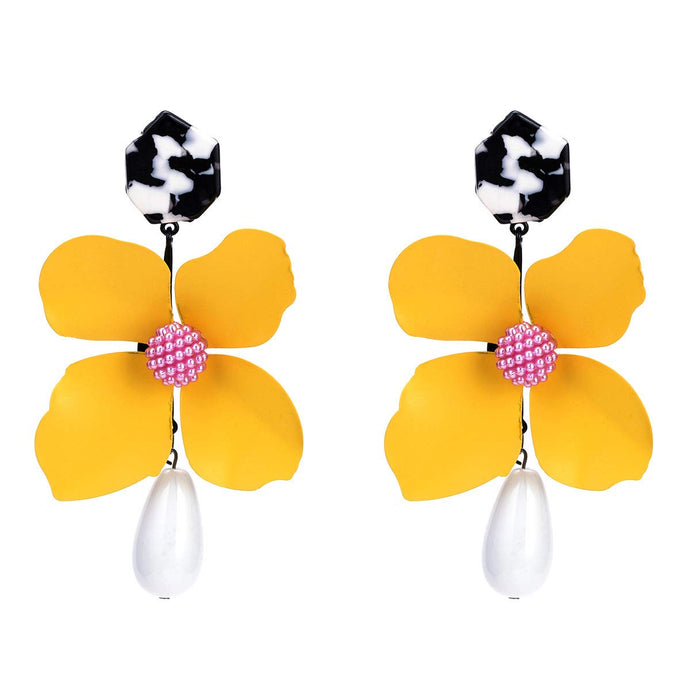 Big Flower Acrylic Earrings