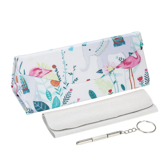 Flamingo Paradise Sunglass Case