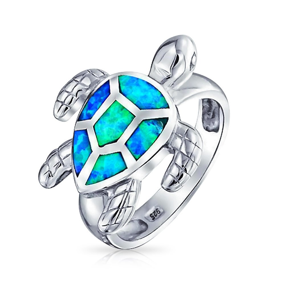 Tropical Opal Tortoise Sea Turtle Ring