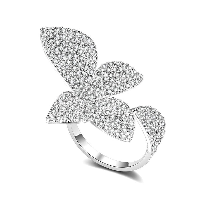 Adjustable Butterfly Cluster Ring