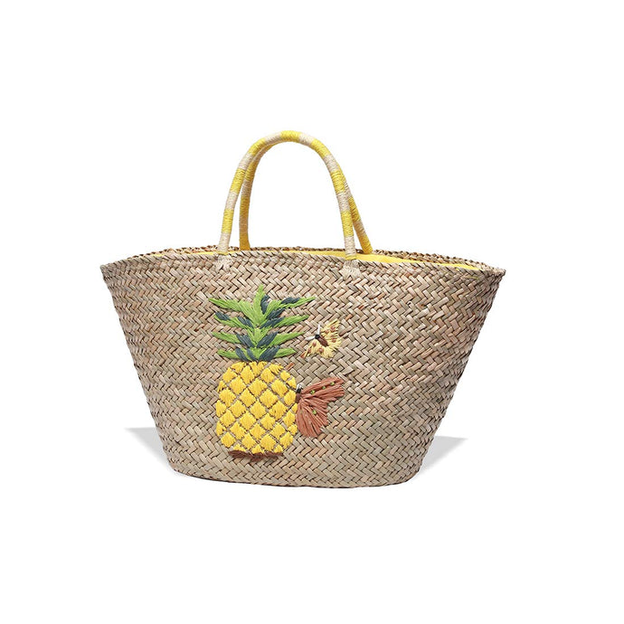Tropical Straw Handbag