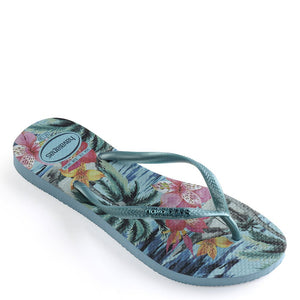 Tropical Blue Splash Flip Flops Sandals