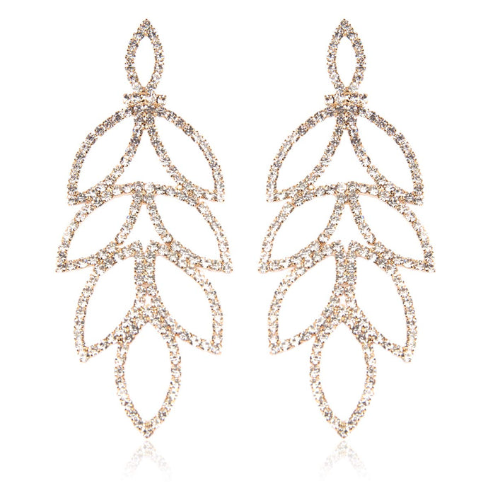 Rhinestone Chandelier Hoop Earrings