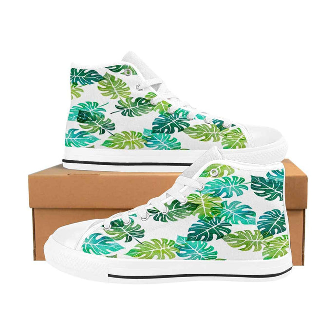 Green Tree Palm Leaves High Tops