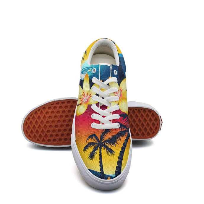 Tropical Palm Tree Sunset Skate Shoes