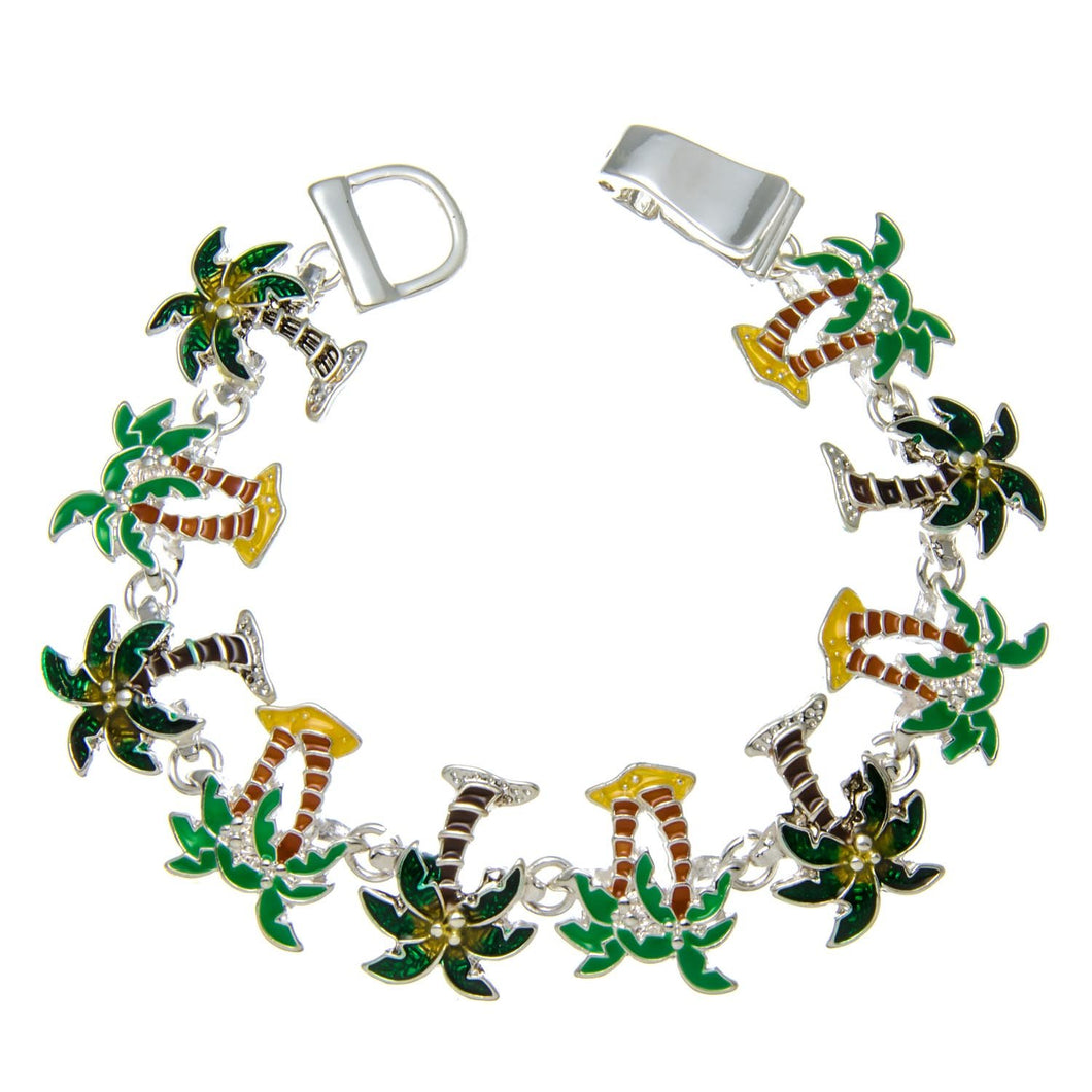 Palm Tree Bracelet with Magnetic Closure