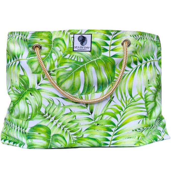 Beach Bag Palm Tree Leaves