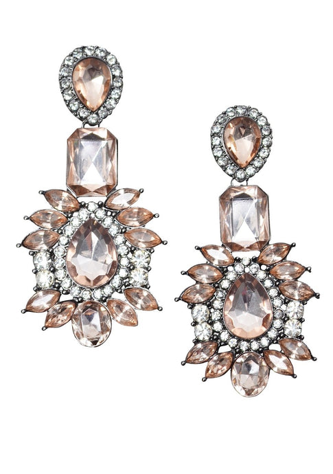 Rhinestones Chandelier Earrings