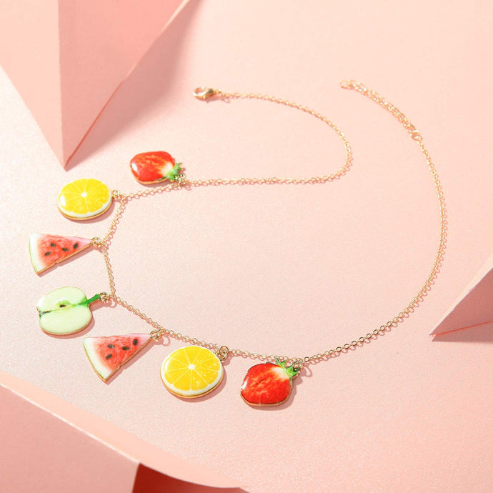 Tropical Assorted Trendy Fruit Necklace