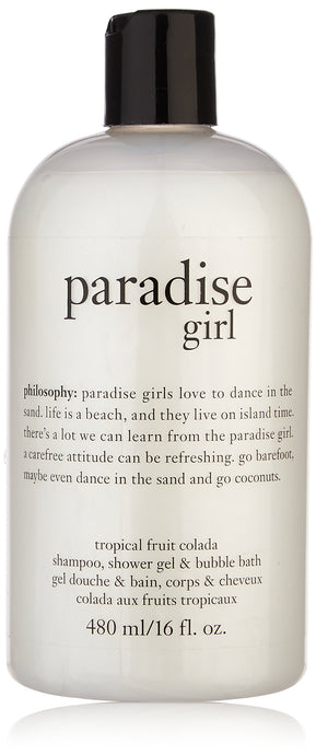 Paradise Girl 3 in 1 Shampoo, Shower Gel & Bubble Bath - Tropical Fruit Colada